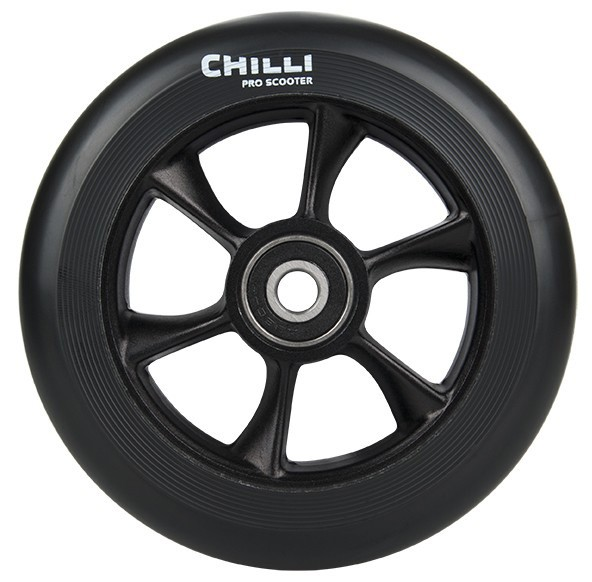 Chilli Wheel-turbo-110mm black PU/black core